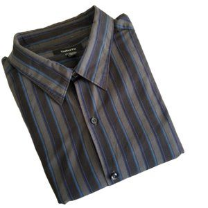 Claiborne Dress Shirt Long Sleeve Stripes XXL